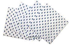 French Provence 100% Cotton Set of 4 Napkins - Lisa White & Blue