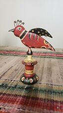 H. Michener Folk Art Carved and Painted Bird Bucks County PA