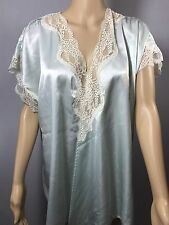 Vintage Lindsey Roscoe For Farr West Blue lace Slipped Jacket  Lingerie Sz S