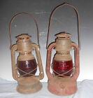 2 Dietz Railroad Little Wizzard Lanterns Red Globe