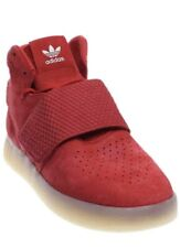Men Adidas Tubular Invader Strap Lifestyle Shoes Suede Red BB5093  Size 9.5