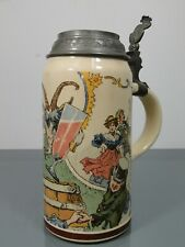Bierkrug,Heinrich Schlitt?,Villeroy & Boch,Mettlach,Keramik,Jugendstil,um1900