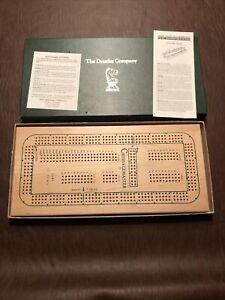 Vintage New In Box Drueke Cribbagemaster Cribbage Wooden Board Once Around