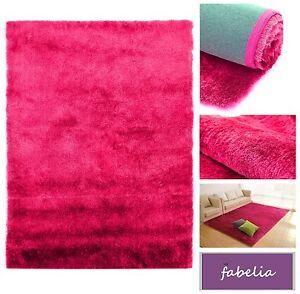 Hochflor Shaggy Teppich Gentle Luxus Rosa-Pink / Flokati-Weich Handgetuftet