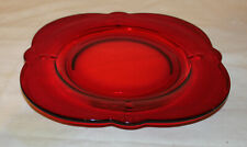 """Paden City Crow's Foot Ruby 8.5"""" Plates PERFECT"""