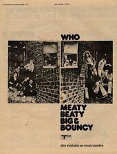 Who The Meaty Beaty Big & Bouncy UK LP Advert 1971