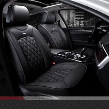 Comfort Black SUV PU Leather Winter Car Seat Cover Set Full Seat Cushion Luxury