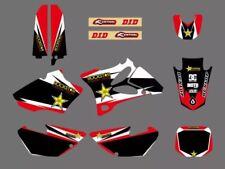 Kit Déco Yamaha 85 Yz Autocollants Stickers Rockstar Motocross Rouge 2002-2014