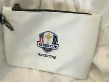 2016 US RYDER CUP TEAM ZIP CLOSURE FAUX LEATHER BAG 7 X 9 INCHES