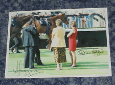 MAUREEN & WILLIAM HAGGAS - HORSE RACING TRAINERS   -5x7  PHOTO  SIGNED. (2)