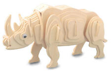 Rhinoceros Rhino 3D Wooden Modelling Kit Model Jigsaw Puzzle