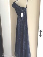 NWT Alberto Makali Evening formal beaded one shoulder Long dress w/train 4