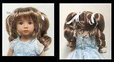 "Monique Doll Wig ""Darling"" Size 6/7 - GINGER BROWN Synthetic Mohair NEW!"