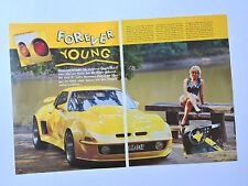 Customized OPEL GT / Clippings Reportage (je) Magazine Coverage Car Coche Wagen