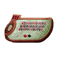 ID 8604 Roulette Wheel Table Patch Casino Gambling Embroidered Iron On Applique