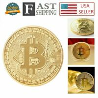 5 Pcs Gold Bitcoin Commemorative Collectors Coin Bit Coin is Gold Plated Coin