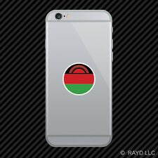 Round Malawian Flag Cell Phone Sticker Mobile Malawi MWI MW