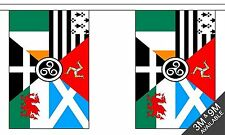 CELTIC NATIONS BUNTING 9 metres 30 flags Polyester flag