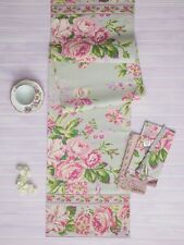 April Cornell Table Runner Vivian Collection NWT 100% Cotton Floral Kitchen