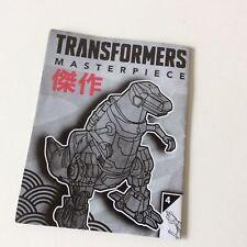 Transformers MP 03 Masterpiece Grimlock Instructions TRU Exclusive 2014