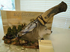 Wolf Spirit Blade & Wilderness Decor Display Knife DWK Hand Crafted Stand New