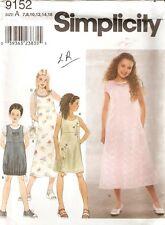 Girls Simplicity Pattern 9152 DRESS JUMPER PURSE 7 8 10 12 14 16 UNCUT