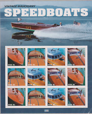 US Vintage Mahogany Speedboats Issue of Year 2007 Sheet MNH Scott 4160-4163