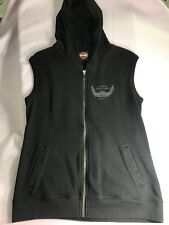 Woman's Lynchburg, TN Black Harley Davidson Vest Zip Up,Fleece ,size large