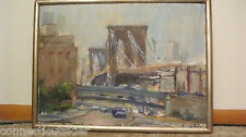 Anthony Springer New York City Brooklyn Bridge Ramp,Urban,Carleton,Oil Painting