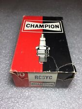 RC6YC Champion Spark Plugs - Box of 10 - NEW Old Stock NOS - Made in USA Vintage