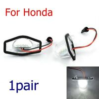 2x Car LED Number License Plate Light Rear Tail Lamp For Honda Jazz/Odyssey/CR-V