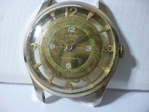 Agon Antimagnetic Skeleton men´s wristwatch Swiss made to restore 36mm Rare!