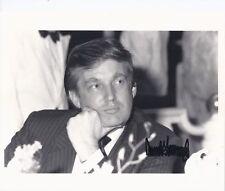 Real PRESIDENT DONALD TRUMP Hand Signed Signature Photo Autograph Apprentice COA