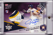 Alex Bregman Rookie Game Used Base Autograph 2017 Topps Now 851D 04/25 RC AUTO
