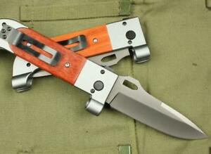 Fixed Big Folding Hunting Pocket Knife Survival Military Outdoor Fishing