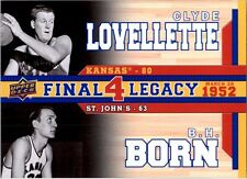 2013 Upper Deck Kansas Final 4 Legacy Duos #F4D1 Clyde Lovellette / B.H. Born SP