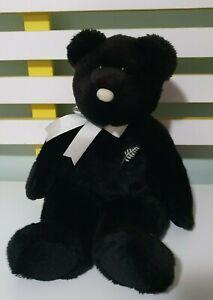 """14"""" 2002 Ty Beanie Buddy Ferny the Bear Plush Stuffed Toy New Zealand"""