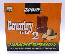 More details for zoom karaoke cd+g - classic country superhits 2 - triple cd+g karaoke disc pack