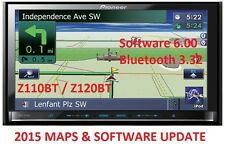 PIONEER AVIC-Z120BT 2015 MAPS UPDATE + SOFTWARE UPGRADE 6.0 // BLUETOOTH 3.32