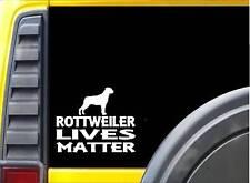 Rottweiler Lives Matter Sticker k196 6 inch rescue dog decal