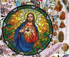 Sacred Heart of Jesus - Static Cling Reusable Vinyl Window Decal Sticker