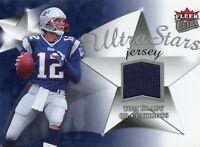 TOM BRADY ( BLUE ) 2006 FLEER ULTRA STARS JERSEY PATCH CARD PATRIOTS SB MVP QB