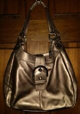 Coach Soho Leather Gold Hobo Buckle Handbag Shoulder Bag F17219 3-Compartment