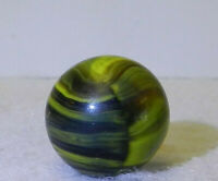 7966m Vintage Christensen Agate Company Electric Striped Opaque Marble .60 In