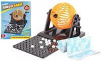 Family Bingo Lotto Game Revolving Machine With 90 Numbers & Cards