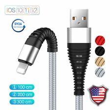 US High Tensile Braided IOS USB Fast Charging Data Cable For iPhone XS 8 7 6 Lot