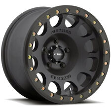 "Method MR105 Beadlock 17x9 6x5.5"" -38mm Matte Black Wheel Rim 17"" Inch"