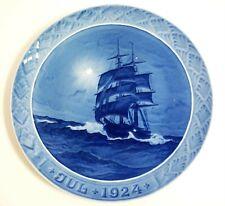 "1924 Royal Copenhagen Christmas Plate ""Schooner at Sea Christmas Night"""