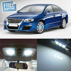 11x LED Interior Package Fit VW Volkswagen Passat B6 6000K Pure White