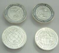 4 x 10 Euro Silbermünze FIFA Fußball-Weltmeisterschaft Deutschland 2006
